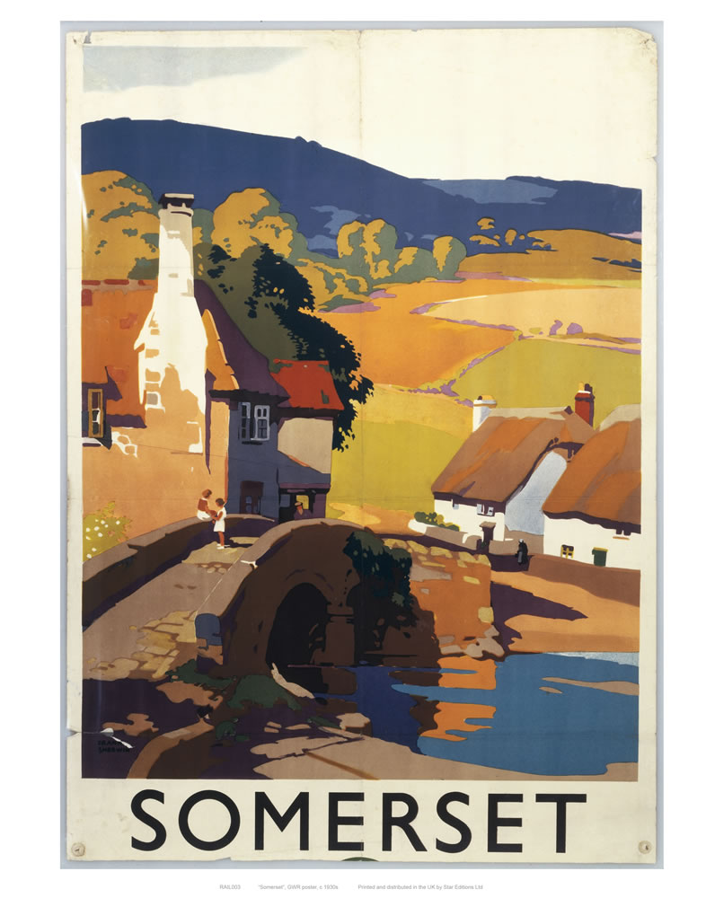 Railway Poster -Somerset Art Print