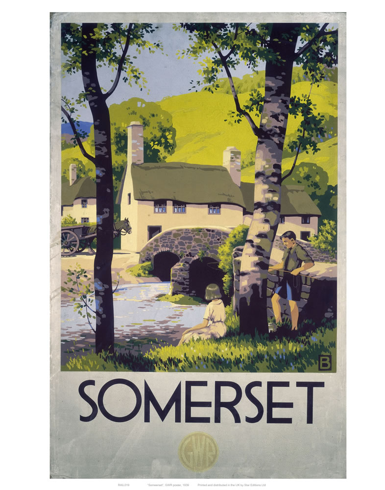 Railway Posters - Somerset Art Print