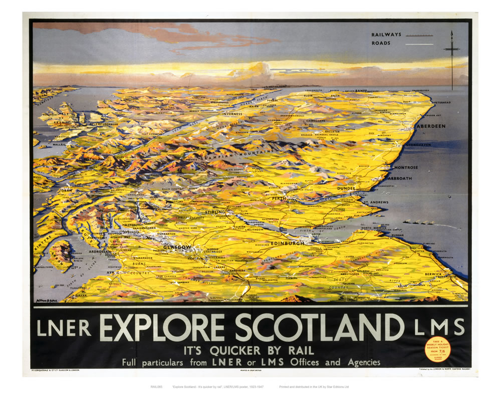 Railway Poster - Scotland Art Print