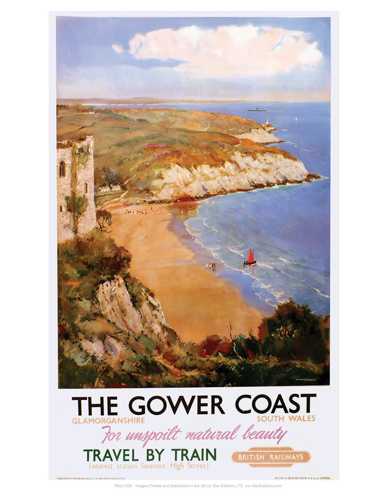 The Gower Coast, Glamorganshire Art Print