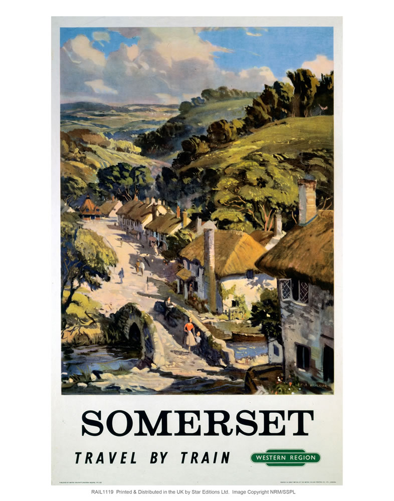Somerset - Travel by Train western region Art Print