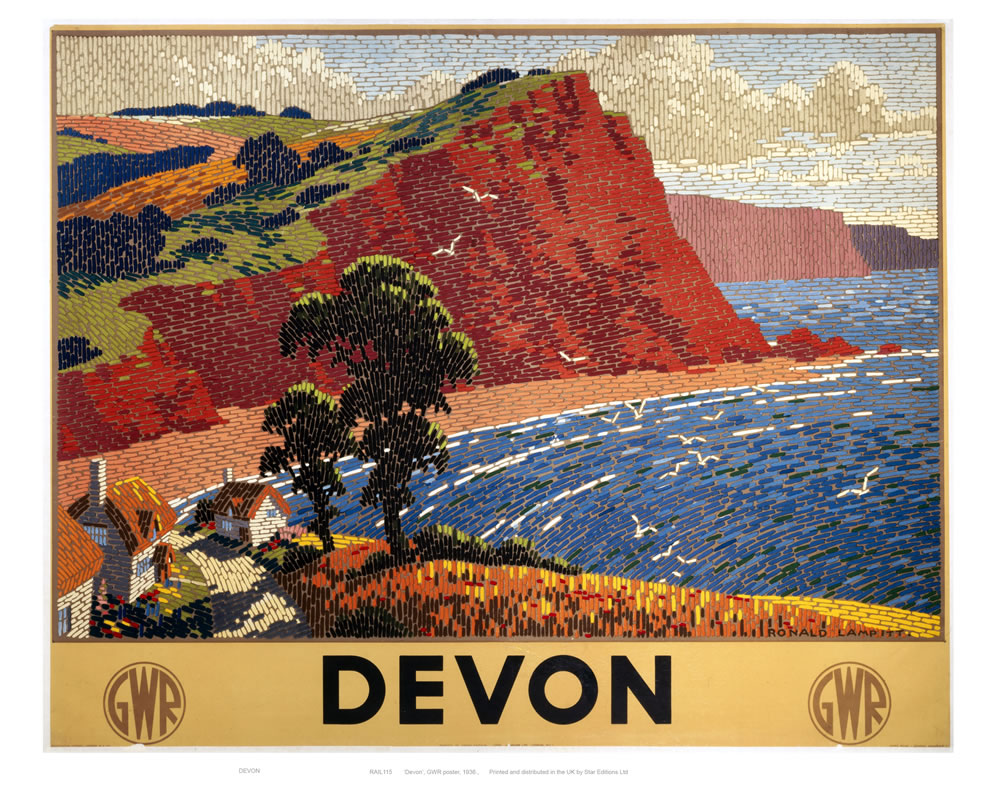 Railway Poster - Devon Art Print