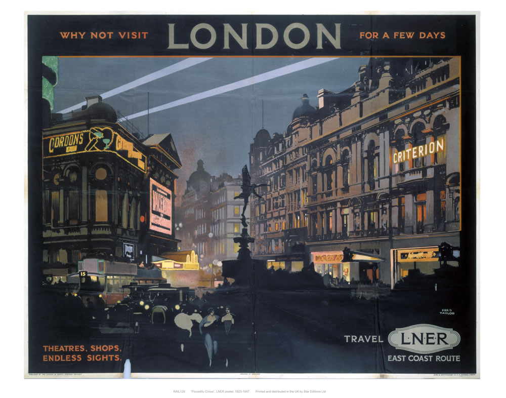Railway Poster - London Art Print