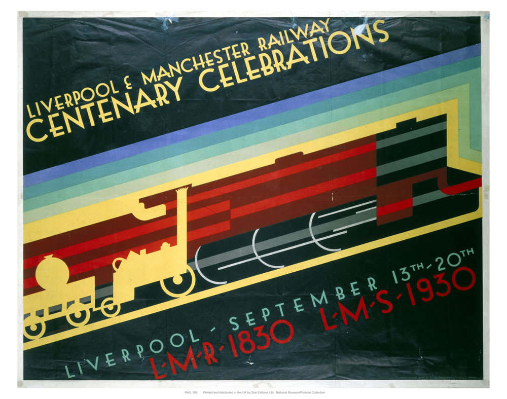 Liverpool to Manchester, Centenary Celebrations Art Print