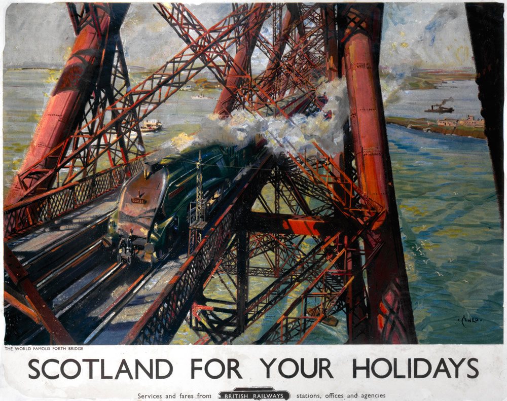 Scotland for your Holidays, Forth Bridge Art Print