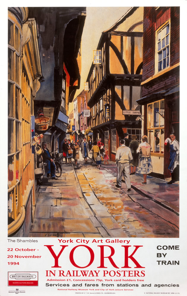 York Railway Posters Exhibition Art Print