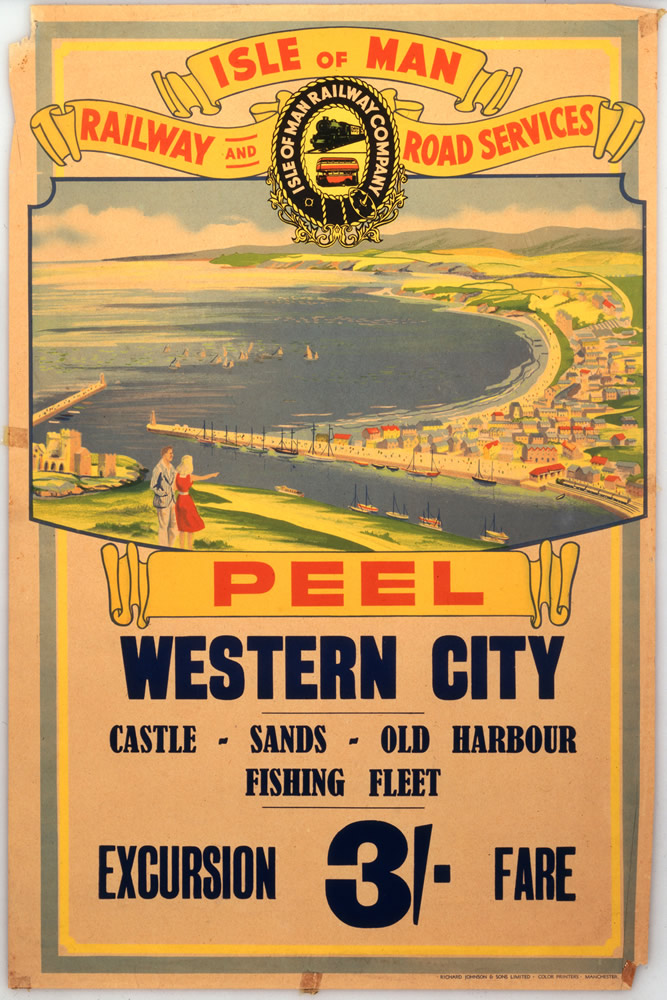 Isle of Man Peel Western City Art Print
