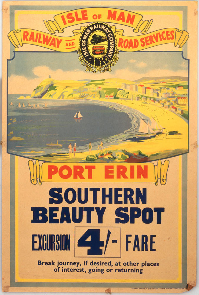 Isle of Man Port Erin Southern Beauty Spot Art Print