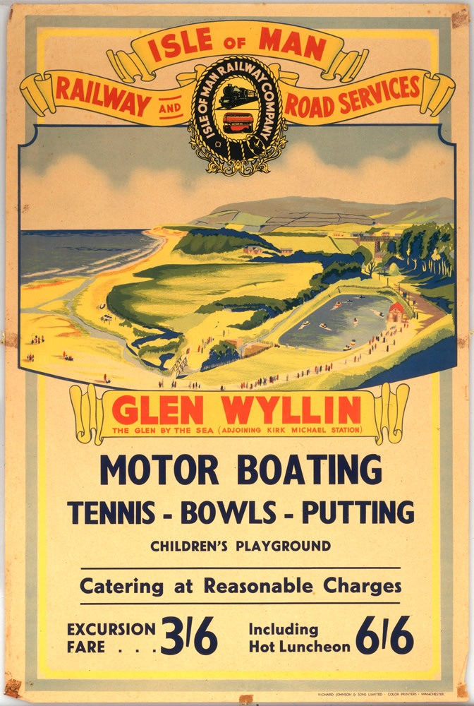 Isle of Man Glen Wyllin Motor Boating Art Print