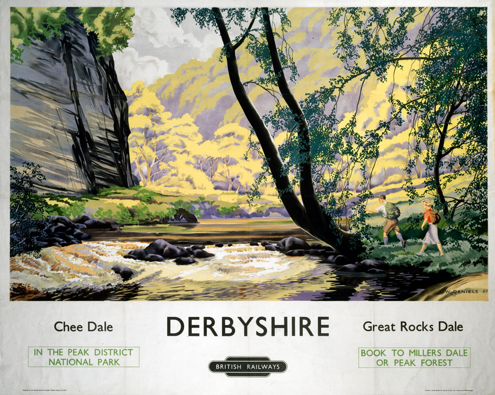 Derbyshire Chee Dale, Great Rocks Dale Art Print