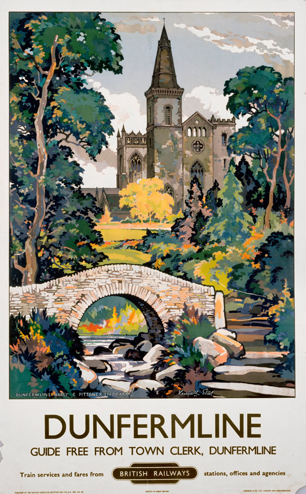 Dunfirmline, Fife British Railways Art Print