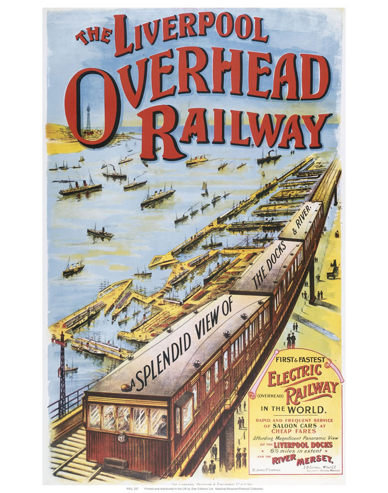 Liverpool overhead railways  Art Print