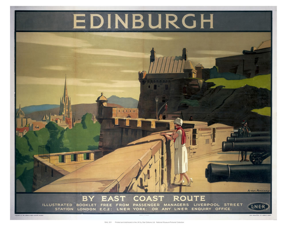 Edinburgh Battlements Art Print