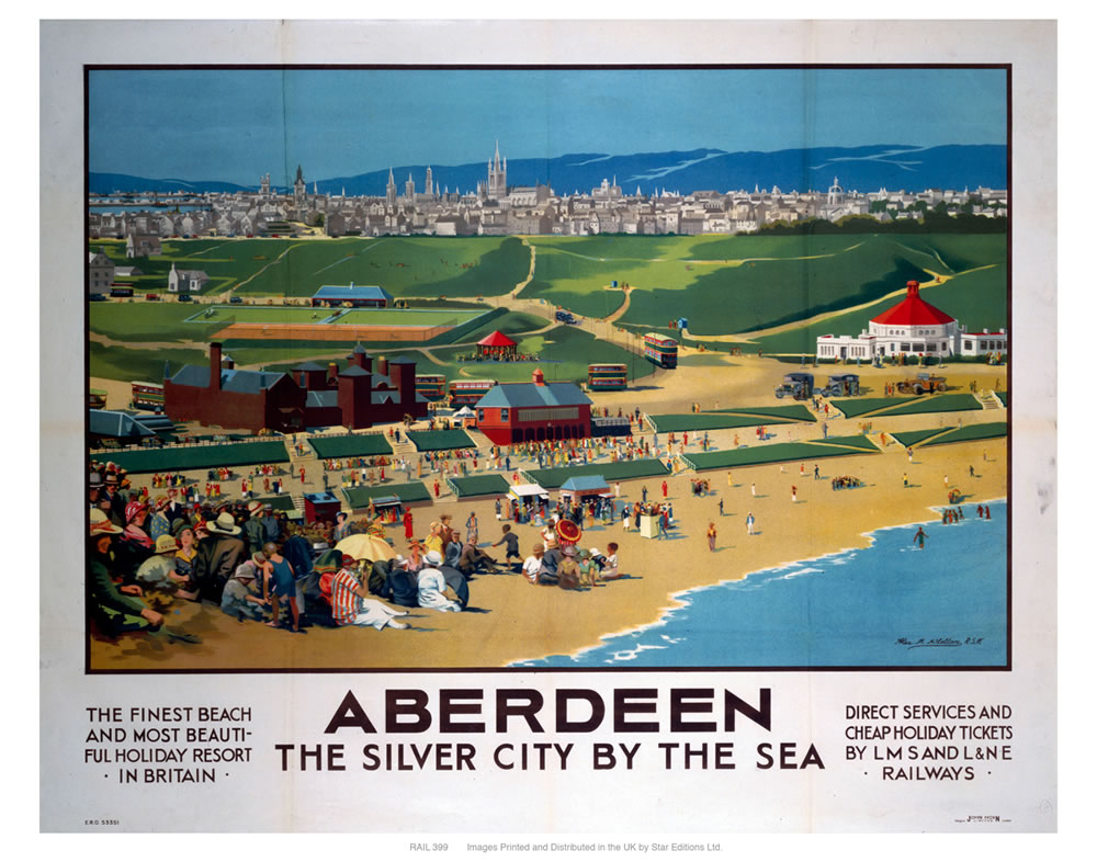 Aberdeen, the silver city 11x14 Print