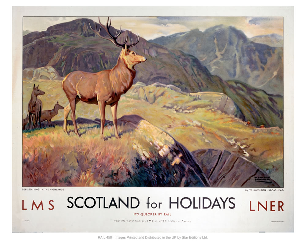 Scotland for holidays Art Print