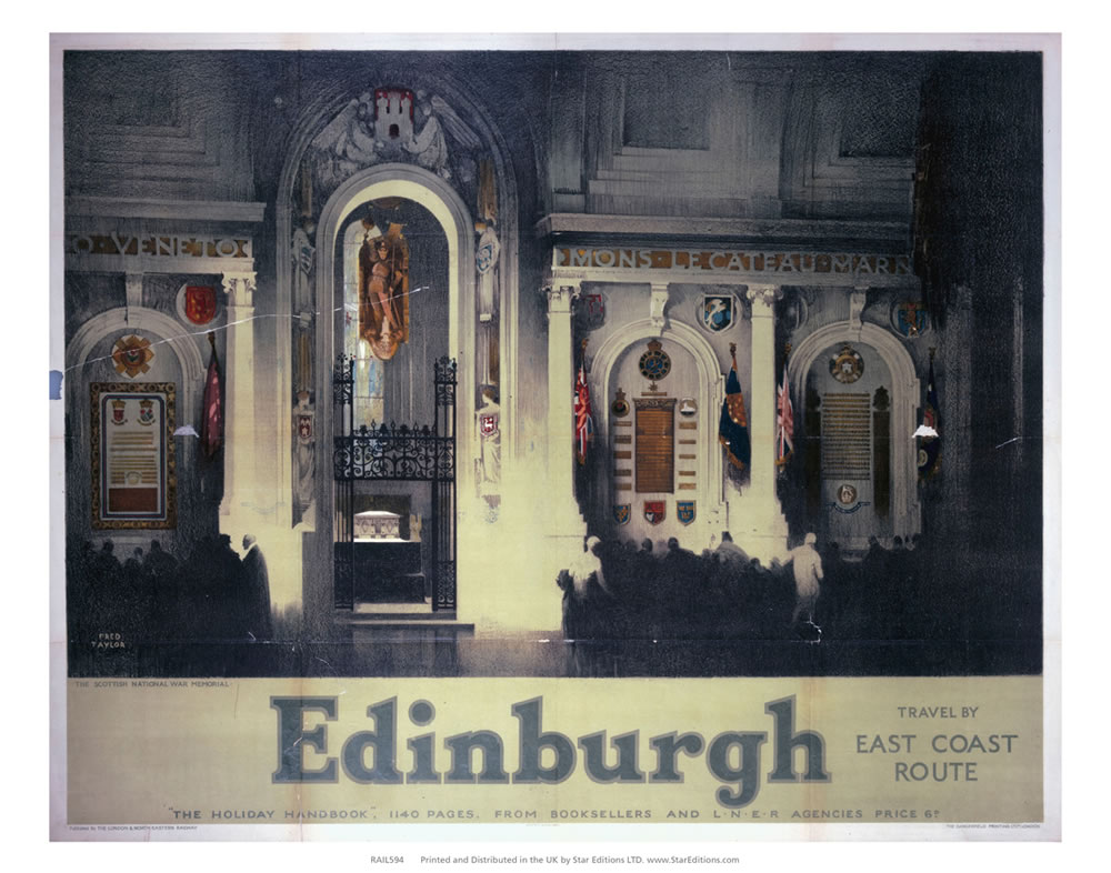 Scottish National War Memorial - Edinburgh by East coast Art Print