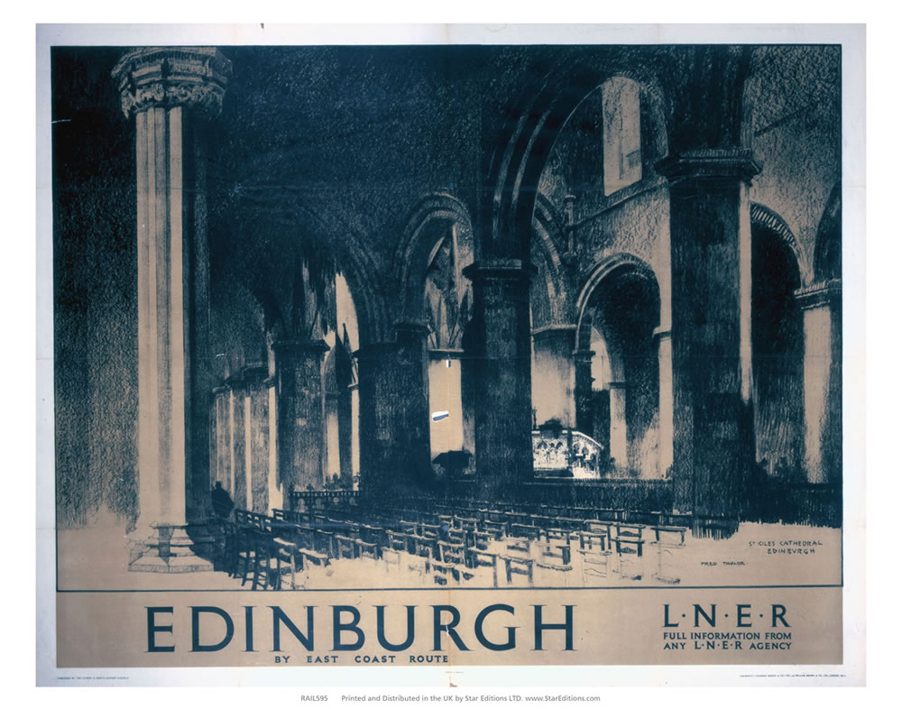 Edinburgh by east coast - St Giles Cathedral Art Print