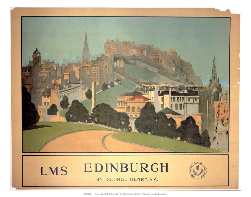Edinburgh by Geaorge Henry - LMS Art Print