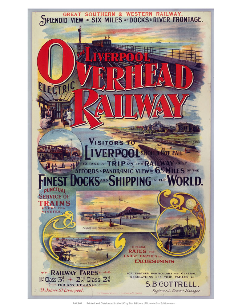 Liverpool overhead railway - Finest dock and shipping in the world Art Print