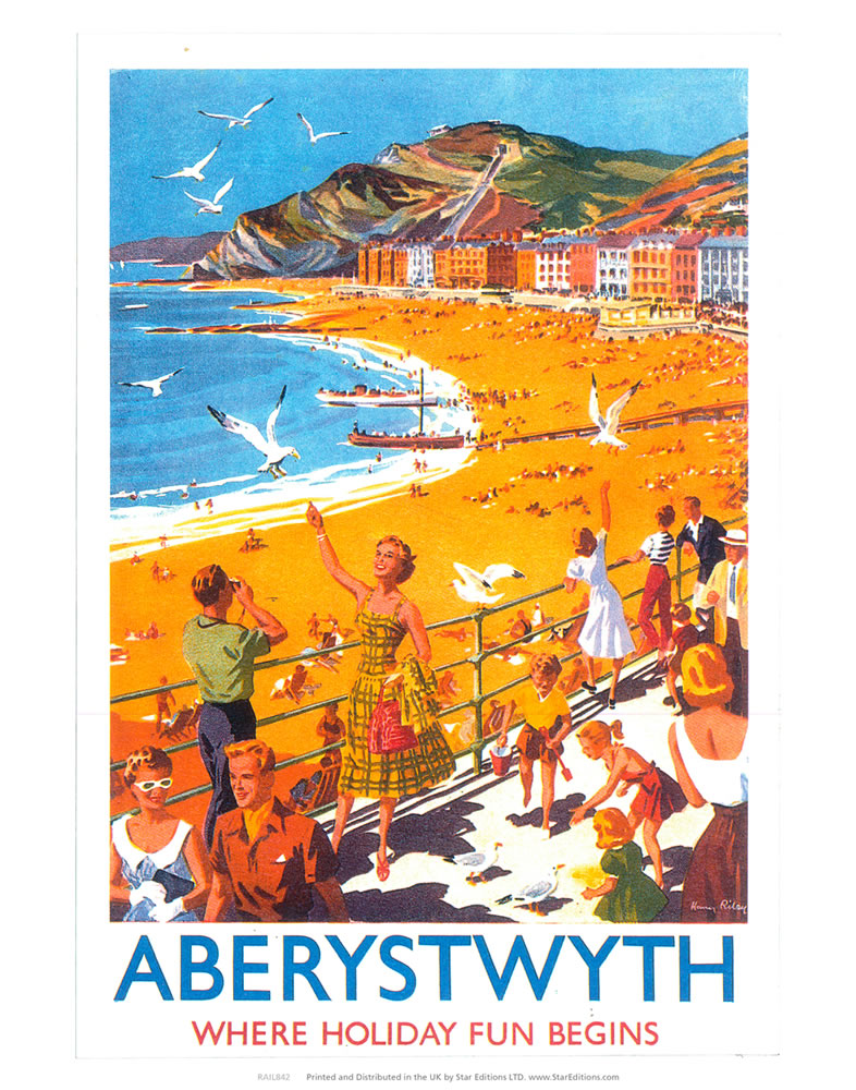 Aberystwyth - Beach Where Holiday Fun Begins Art Print