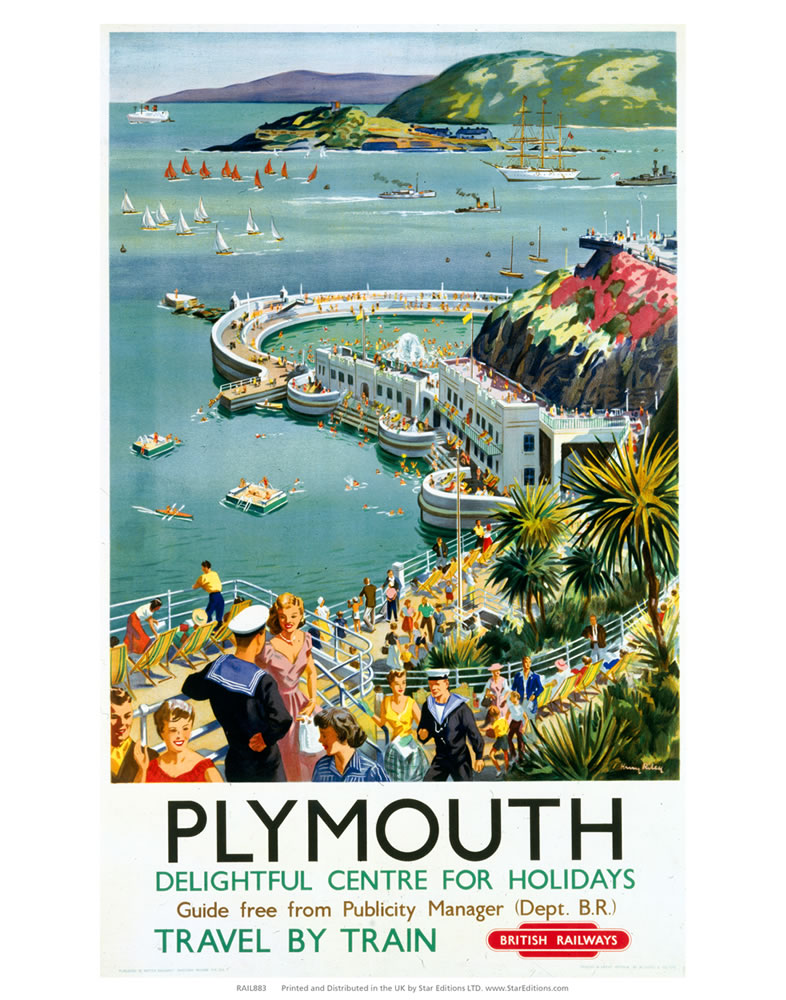 Plymouth - Seaside Delightful Center for holidays Art Print