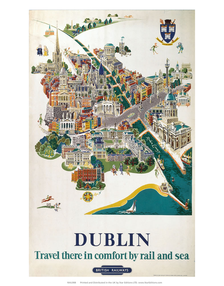 Dublin Comfort by rail and sea Art Print