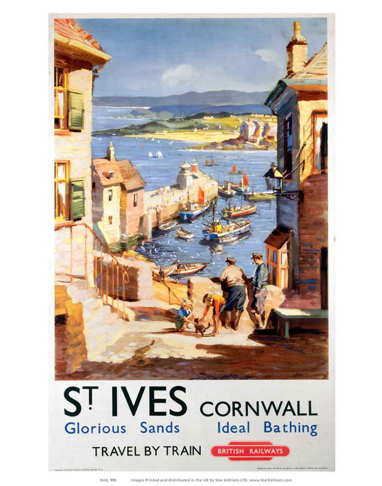 St Ives Cornwall - Glorious sand and Ideal Bathing Art Print