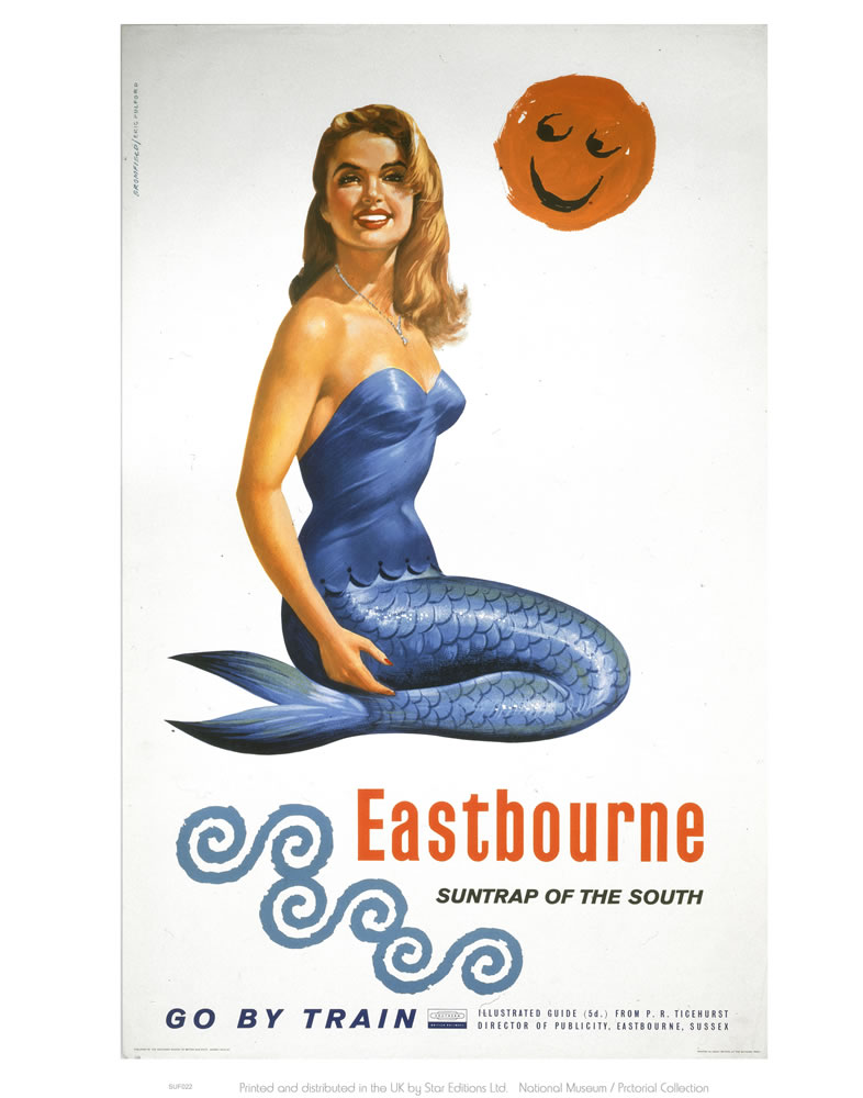 Railway Poster - Eastbourne Art Print