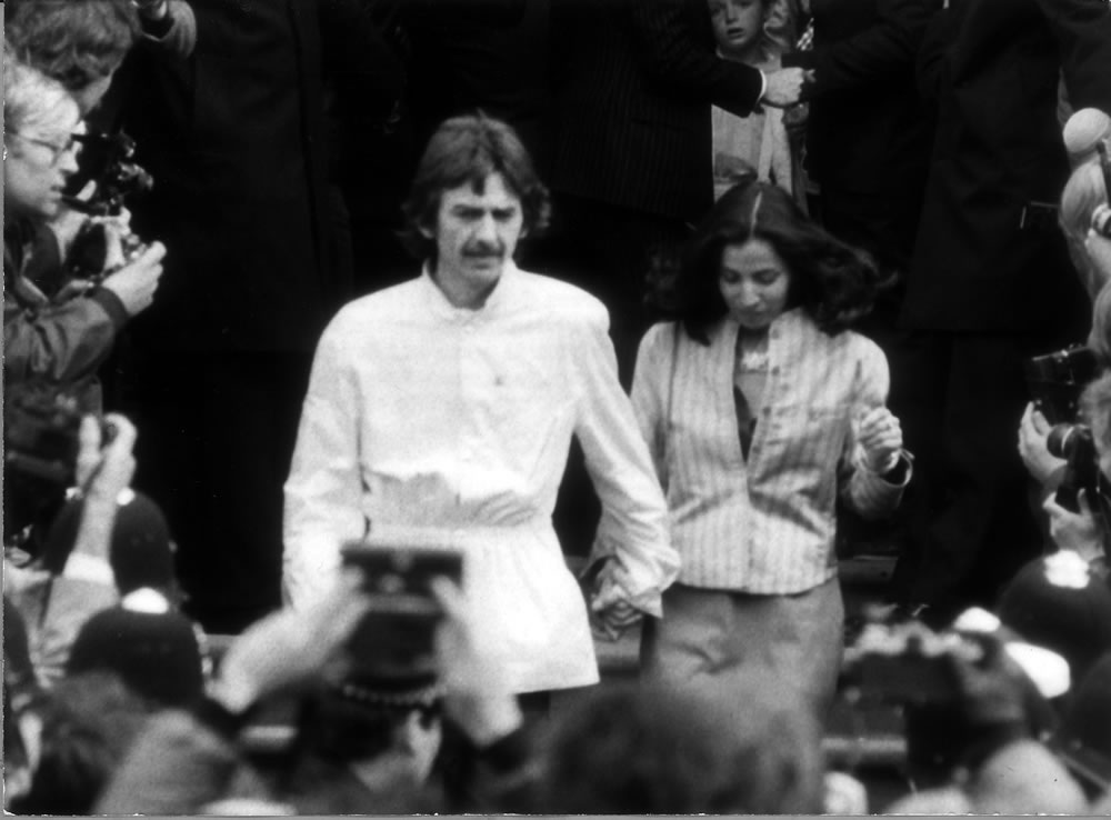 George Harrison and wife Olivia at the.. Art Print