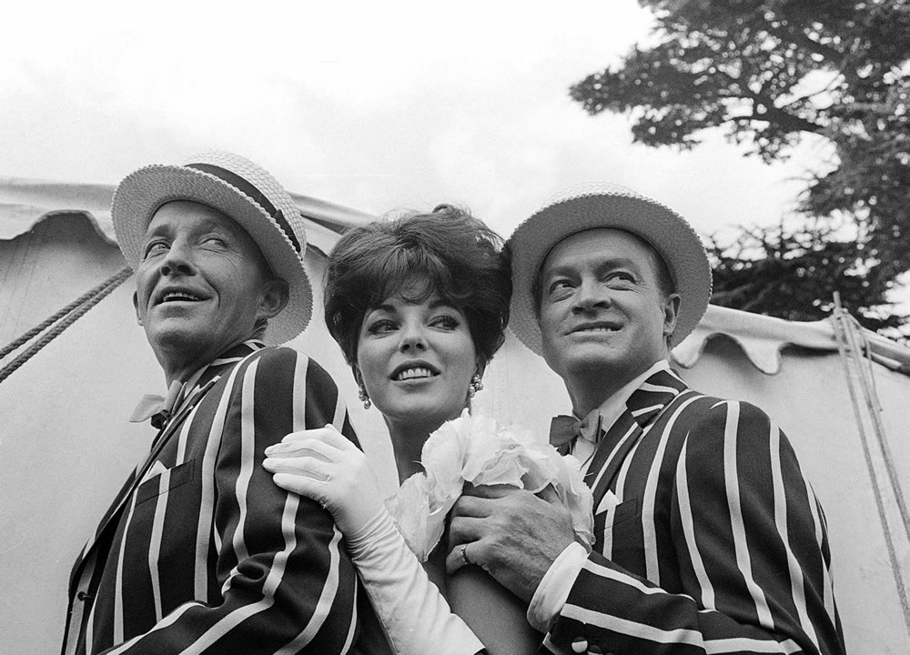 'Bing Crosby, Joan Collins and Bob Hope' 11x14 Print