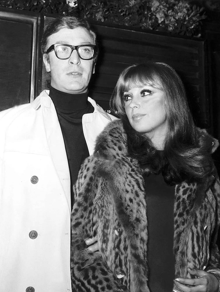 Michael Caine actor and girlfriend Elizabeth Ercy Art Print