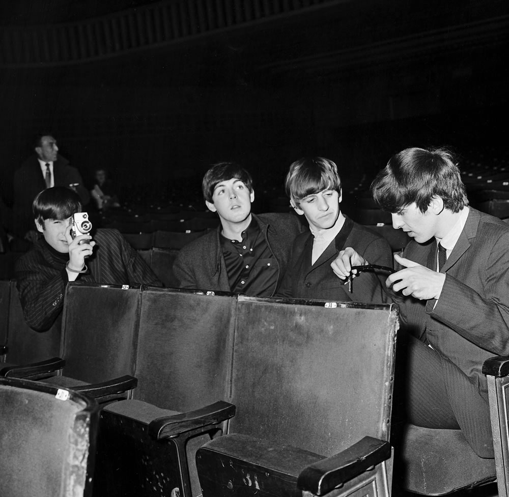 beatles files 1963 The Beatles rest in.. Art Print