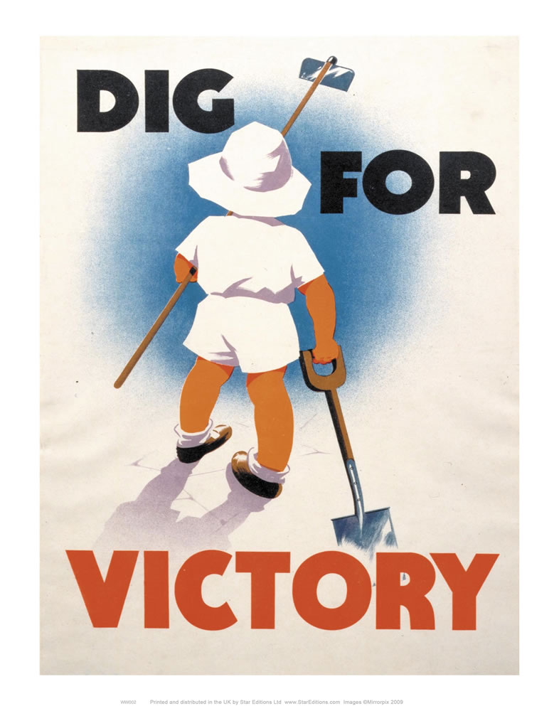 Old Dig for Victory 11x14 Print