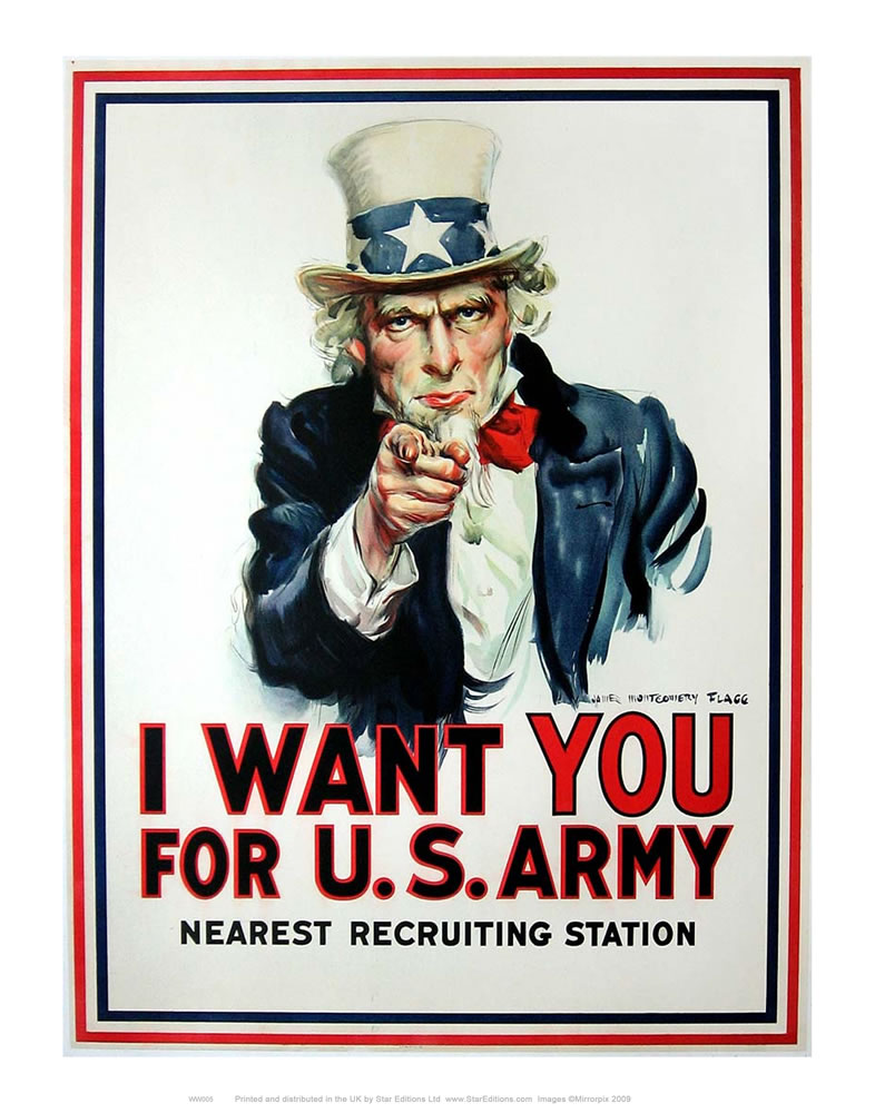 I Want You for U.S. Army Art Print