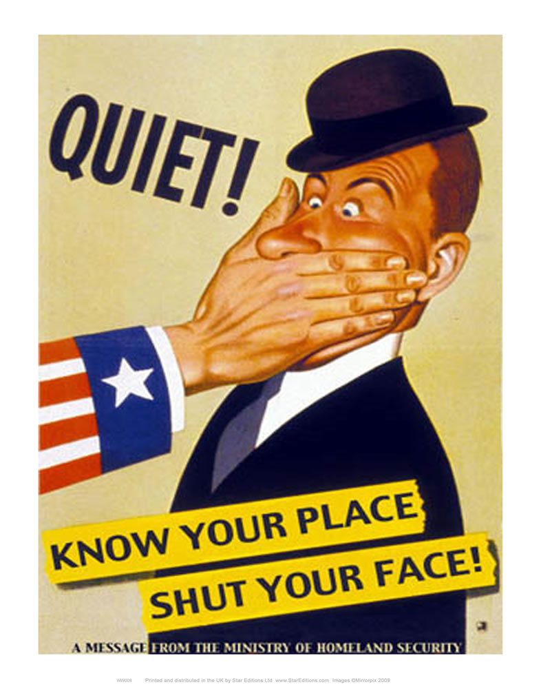 Know your place Shut your face Art Print