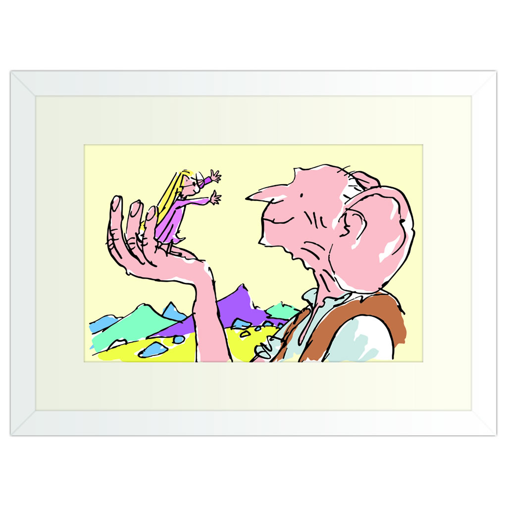 BFG Ear - White Framed Art Print (30x40cm) White Framed Art Print