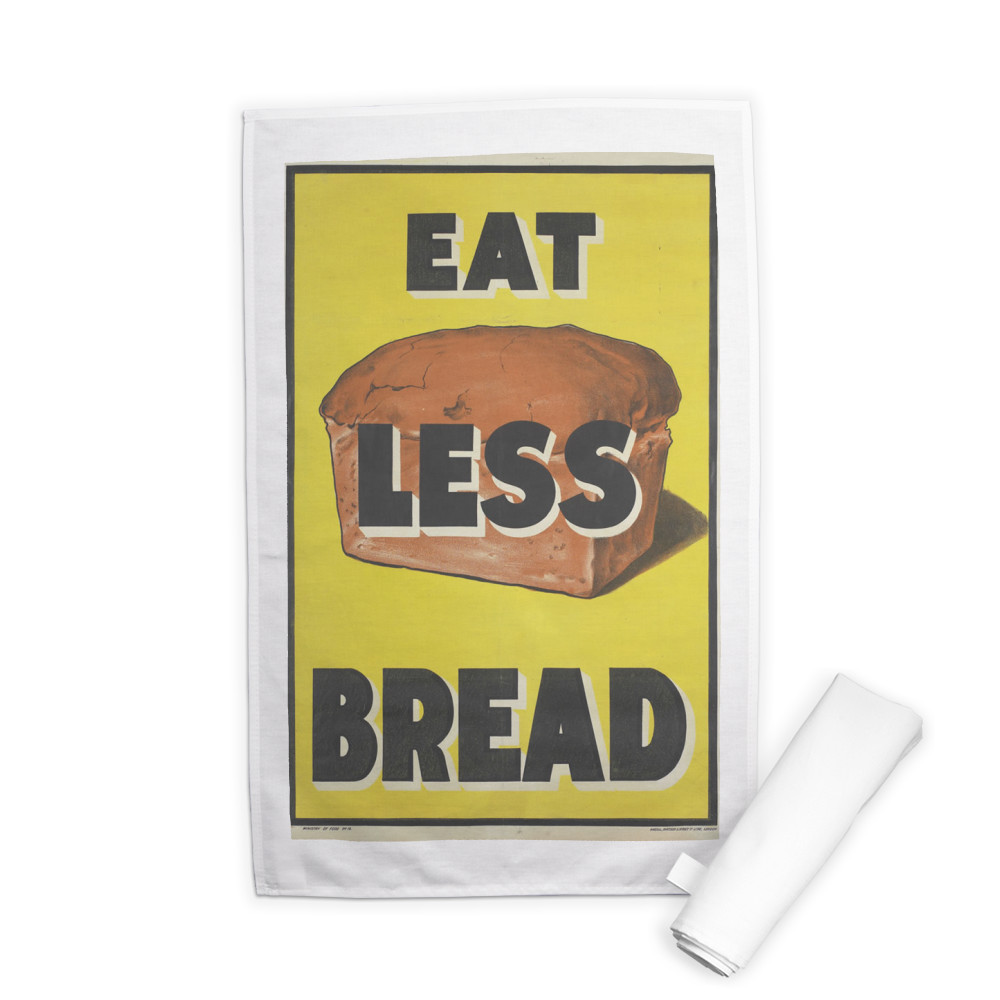 Eat Less Bread Tea Towel