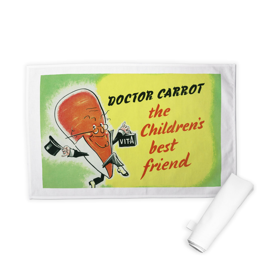 Doctor Carrot Tea Towel