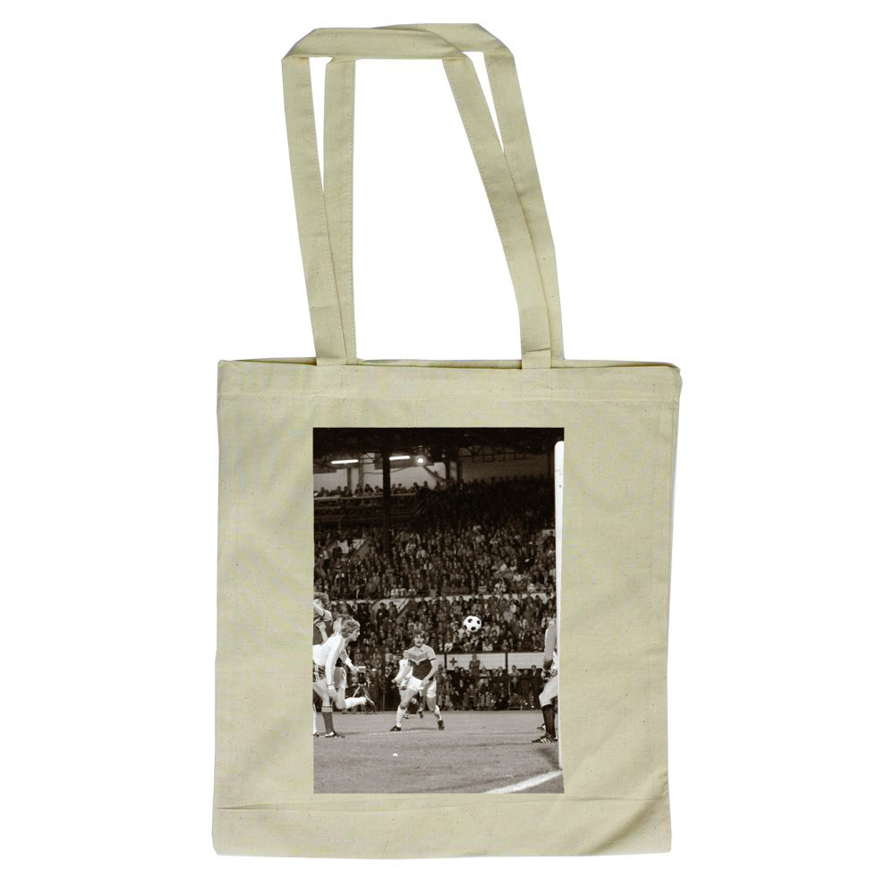 European Cup Winners Cup Final at the Heysel Stadium, May 1976. Anderlecht.. Tote Bag