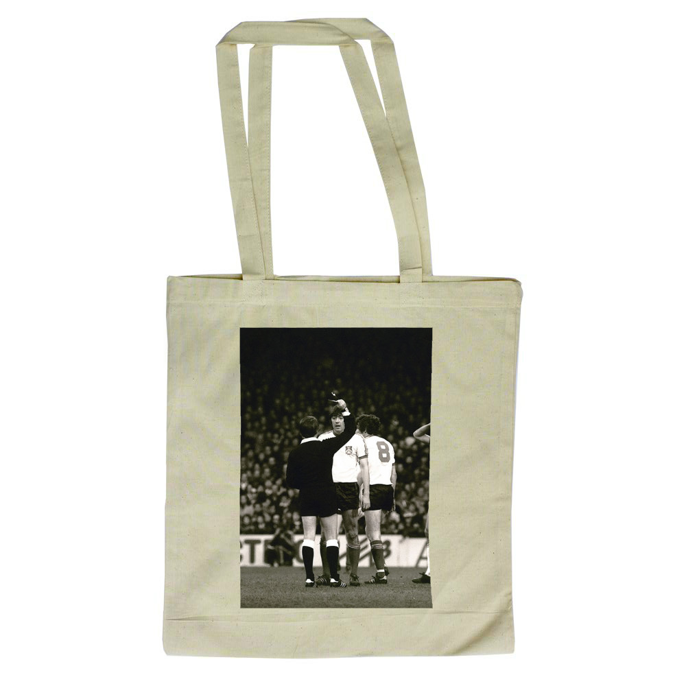 FA Cup 3rd round at Upton Park, January 1981. West Ham United v Wrexham. A.. Tote Bag