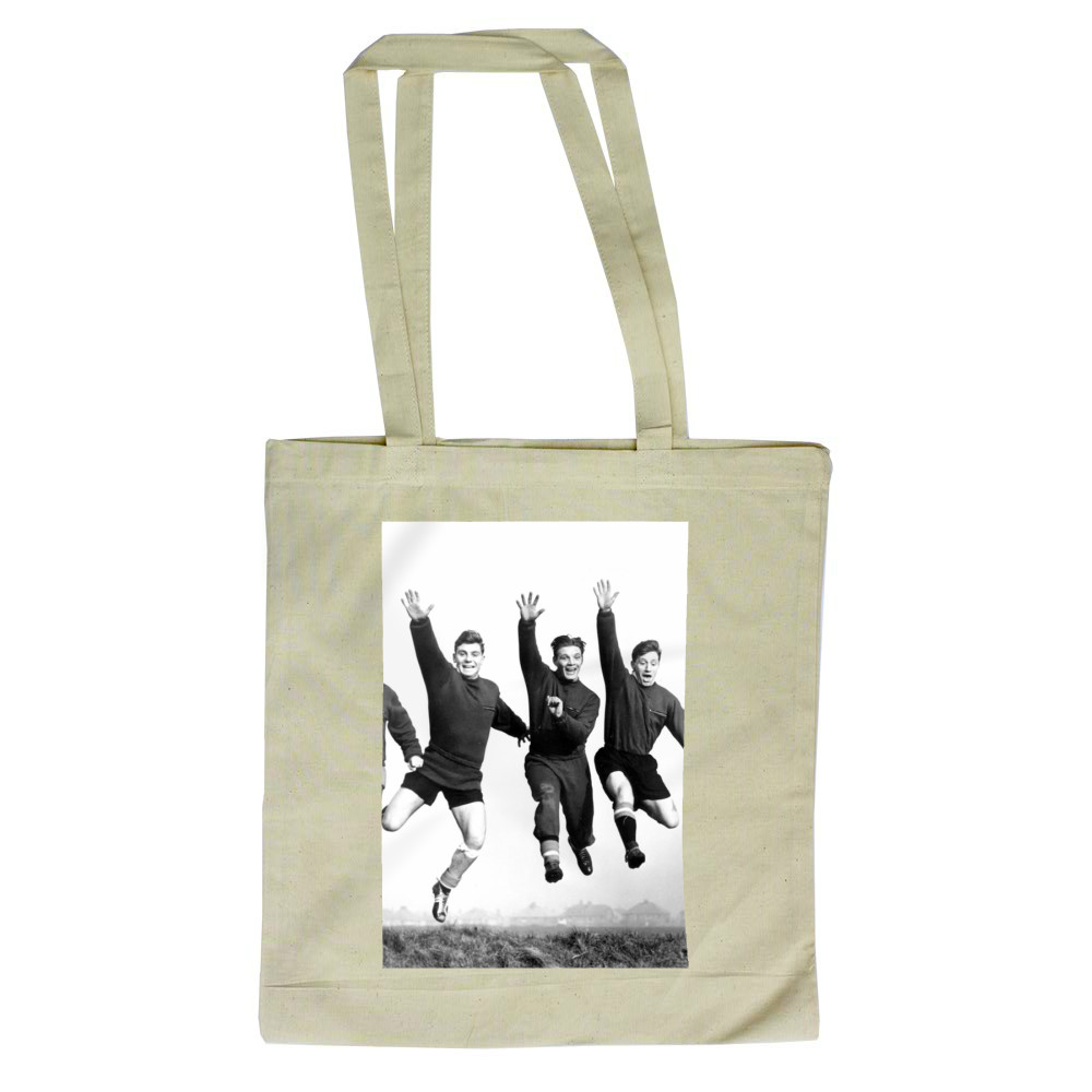 Busby babes Johnny Berry, Duncan.. Tote Bag