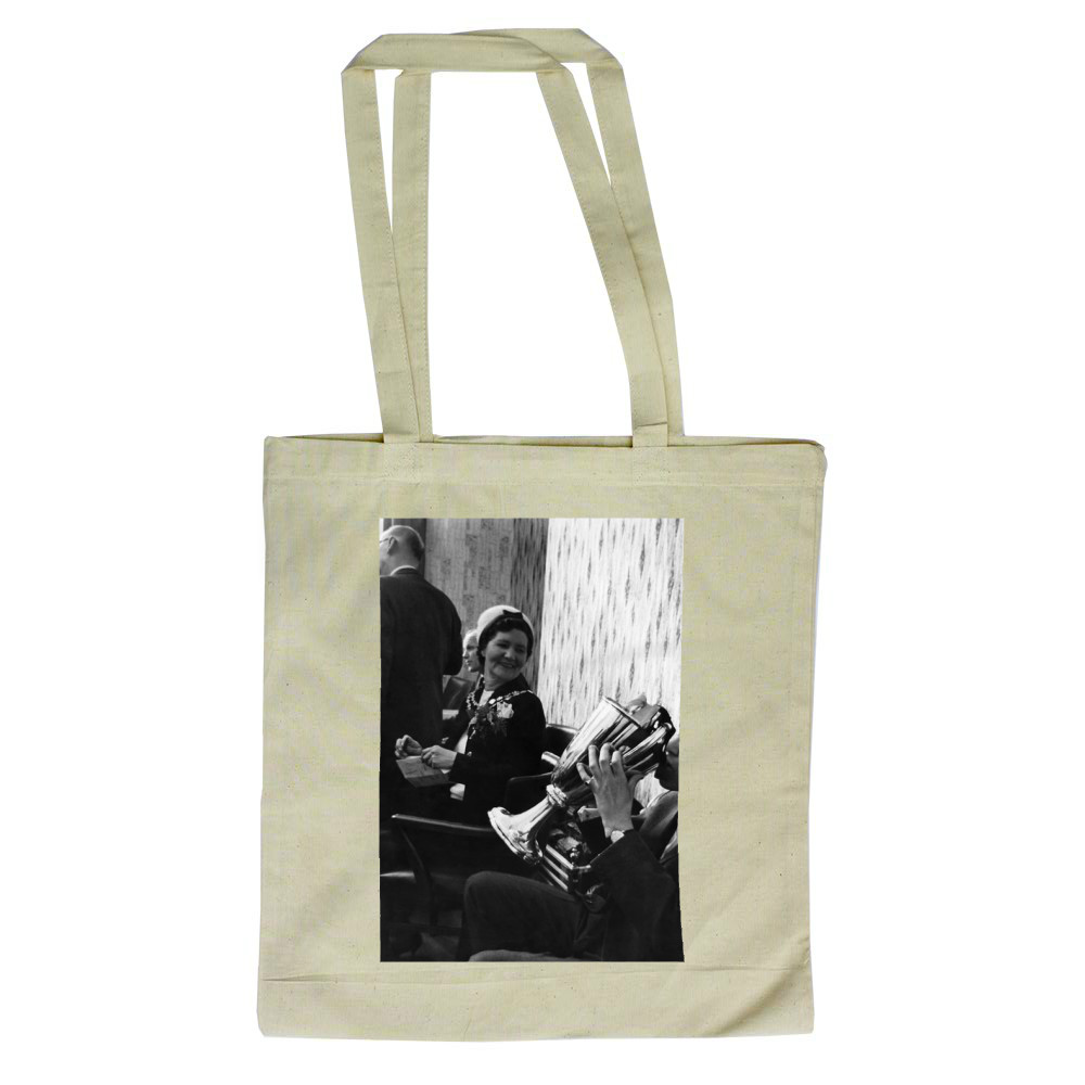 European Cup Winners Cup. West Ham 2-0 1860 Munich. West Ham's Alan Sealey.. Tote Bag
