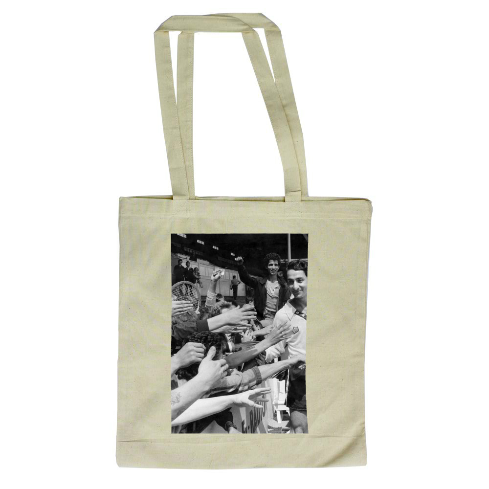 Osvaldo Ardiles greets Spurs fans, July 1978 Tote Bag