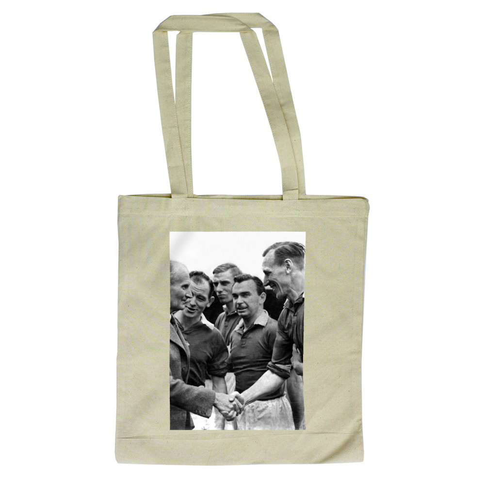 'Desert Rats' at Ninian Park cheered.. Tote Bag