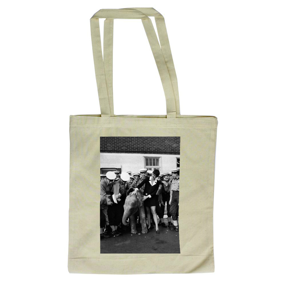 'Twiggy' the baby elephant was half.. Tote Bag