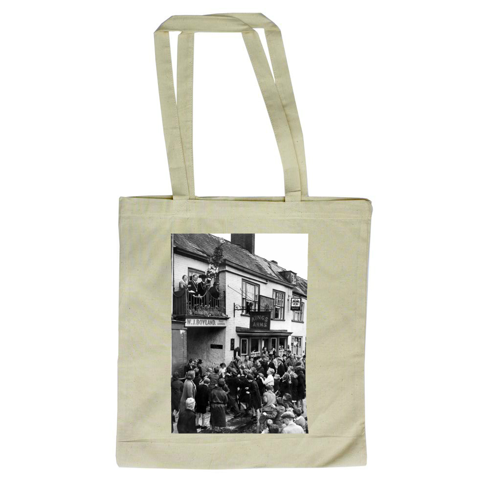 Throwing hot pennies to children at.. Tote Bag