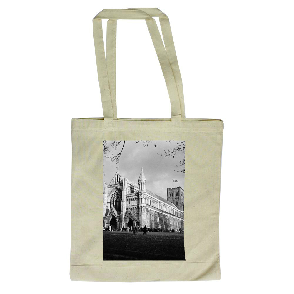 St Albans Cathedral, Hertfordshire... Tote Bag