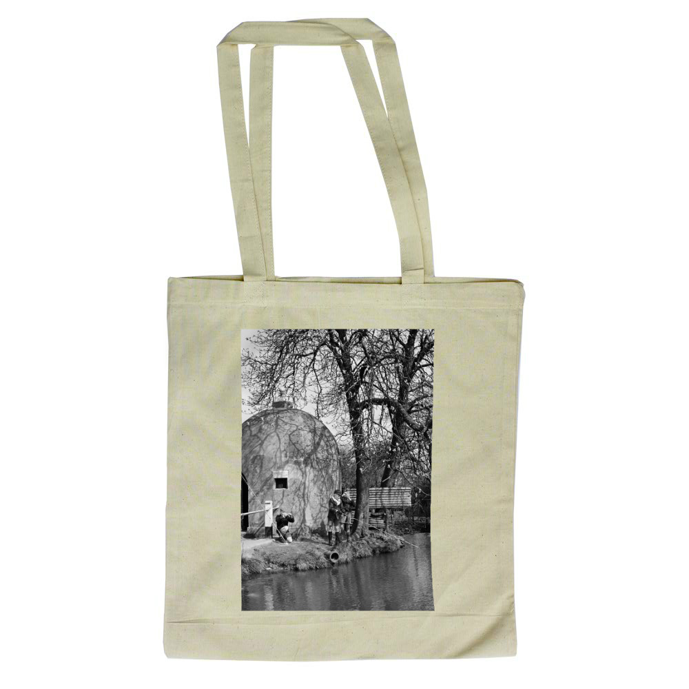 The Cage and village pond in Shenley,.. Tote Bag