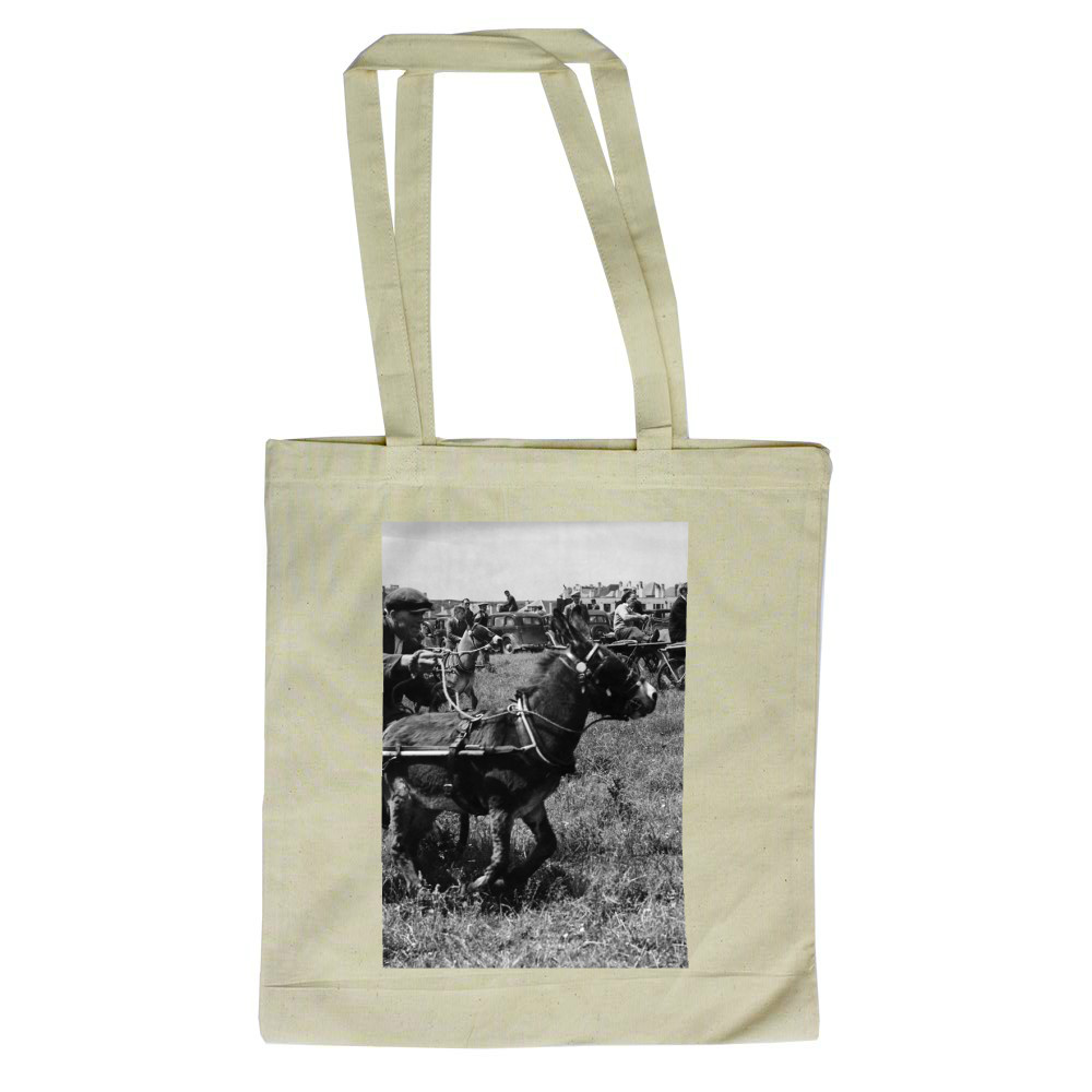 ''Moke's day out''. Far from sitting.. Tote Bag