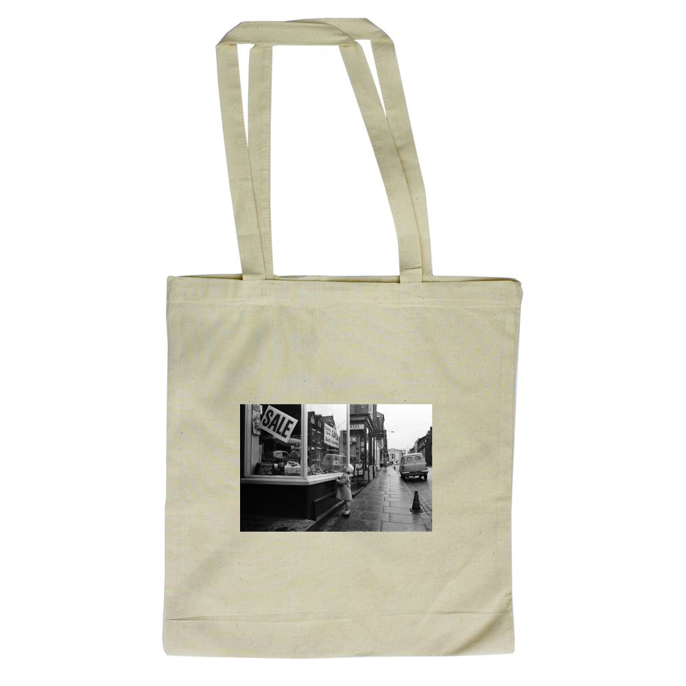 Victoria Street in St Albans, Hertfordshire, 1961. Tote Bag
